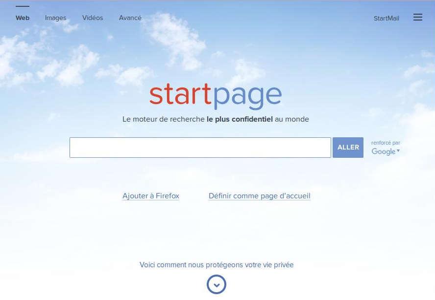 Le moteur de recherche Startpage
